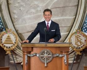 Il signor David Miscavige, Presidente del Consiglio di Amministrazione e leader ecclesiastico della religione di Scientology, ha inaugurato una nuova chiesa nella capitale della nazione.